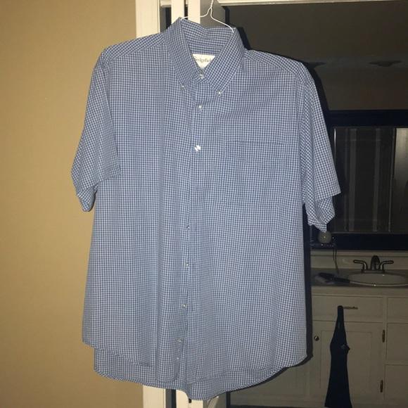 New Nomis Mens Stran Button Shirt Blue Plaid Large L//S